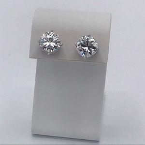 CAH 925 Sterling Silver Large CZ Earrings